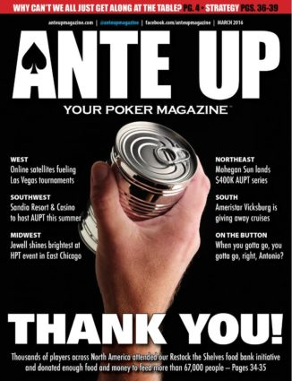 Ante Up Magazine - March 2016 Issue