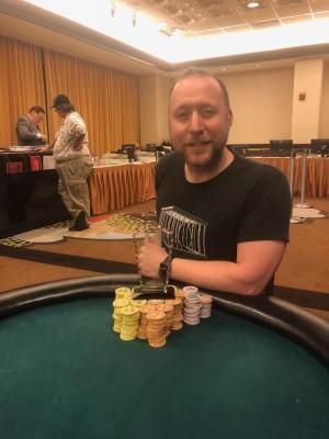Adam Overton wins Event #7 of Ante Up Poker Tour at Atlantis