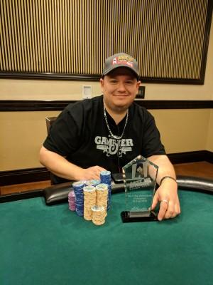 Paul Sampson wins Event #5 of Ante Up Poker Tour at Atlantis