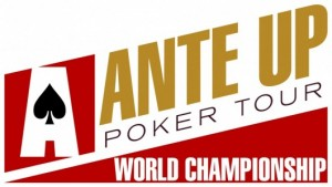 Ante Up Magazine Seat assignments chip counts for Event 14 of Ante Up World Championship
